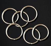 ingrosso connettori a chiave-Acciaio inossidabile semplice anello portachiavi metallo catena chiave protezione ambientale 25 millimetri anello diviso Apertura supporto FBA Drop Shipping M176F