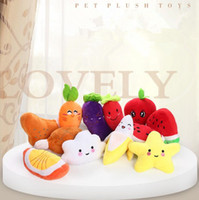 Wholesale Sound Banana Watermelon Radish Plush Toy Classical Cute Dog Interactive Gift Soft Pet Teething Molar Toys CCA10899