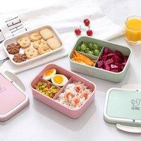 bento meyvesi toptan satış-Mikrodalga Bento Öğle Yemeği Kutusu Çocuklar Için Piknik Gıda Meyve Konteyner Saklama Kutusu Yetişkin