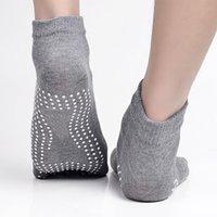 calcetines de dedo del pie masculino al por mayor-Hombres Mujeres antideslizante Toes Yoga Pilates calcetines de deporte al Gimnasio, calcetines masculino gota