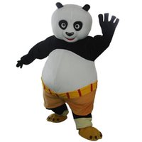 özel maskot takımları toptan satış-2019 sıcak satış Cadılar Bayramı Kung Fu Panda Po Veya Tigress Maskot özel Xmas Party Yetişkin takım Elbise Ücretsiz Kargo