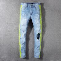 dış mekan marka kot toptan satış-Amiri erkek kot tasarımcı moda pantolon en kaliteli pantolon gelgit marka kot pantolon Butik klasik nakış jean açık spor pantolon