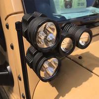 ingrosso luci della testa del toyota-Accessori auto Fendinebbia Fendinebbia A-Colonna Faretti fendinebbia da corsa Per Jeep Wrangler 07-16 4x4 Liberty Off Road SUV