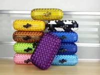 vendiendo tejido al por mayor-Clásico vendedor caliente de moda mujer embrague diseñador hecho de cinta y piel de serpiente tejer dama bolso de embrague envío gratis
