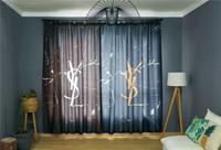 fenster-designs großhandel-Beliebte Logo Vorhang String Tür Fenster Zimmer Mode Vorhang Asymmetrische Design Dekorative Brief Vorhang Für Schlafzimmer