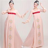 etnik kostüm kadınları toptan satış-Asya Pasifik Adaları Konfeksiyon seksi modern Kadınlar hanbok Kıyafeti cosplay kostüm Kore Vintage Şifon Elbise oryantal etnik giyim