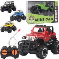 беспроводная игрушка оптовых-Children's four-way remote control car electric wireless remote control off-road vehicle model boy RC toy car