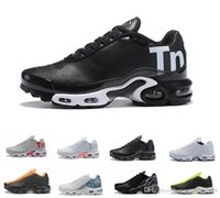 Wholesale sell tn shoes for sale - Group buy Hot Sell Colors Mercurial Plus Tn Ultra Se Triple Black White Breathable Mesh Running Shoes Sports Plus Tn Mens Trainers Sneakers