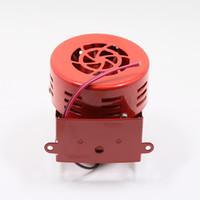 Wholesale siren car horn resale online - Loud dB Electric Motor Driven Horn Alarm Siren Air Raid Small Compact Red V AS055 car