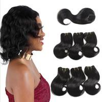 Wholesale 100 human hair body wave human hair bundles body wave With Closure