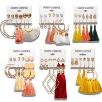 ingrosso gioielli di nappa diy-36 stili Brincos diy femminile Argento Oro nappa orecchini per i monili delle donne Big geometrica del cerchio insieme dell'orecchino Fashion