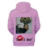 grande fashion оптовых-Fashion-Women 19SS Одежда Дизайнерские толстовки с капюшоном Ariana Grande с длинными рукавами, весна, подросток