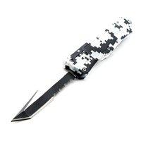 cuchillos camo cuchilla plegable al por mayor-616 7 pulgadas 7 pulgadas camo blackwhite 8 modelos cuchilla doble acción táctica camping caza cuchillos plegables regalo de navidad cuchillo paodin