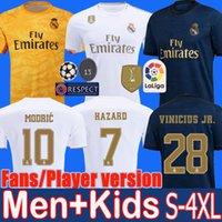 Wholesale fan waterproof for sale - Group buy S XL Real madrid soccer jerseys FANS PLAYER VESION HAZARD JOVIC MENDY RODRYGO football shirt uniforms kids kit camisetas