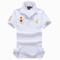 camisa polo para homens de luxo venda por atacado-2019 Poloshirt Pólo Sólida Camisa Dos Homens de Luxo Camisas Polo de Manga Longa dos homens Básicos Top Algodão Polos Para Meninos Marca Designer Polo Homme