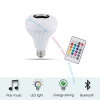 Wholesale smart light bulbs for sale - Group buy LED smart bulb Bluetooth Light Bulb Speaker Color Changing Bulb Syncs with Music Wireless Audio Speaker Light Clear and Loud