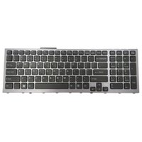 New Russian white keyboard for Sony SVF152 SVF153 Palmrest+touchpad no backlit