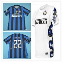 vintage j toptan satış-2009 2010 Inter J. Zanetti Milito Retro Futbol Forması 09 10 Sneijder Milano Klasik MAGLIA Calcio ICARD Maillot Eski futbol forması unifo