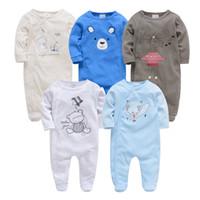 Wholesale baby clothing sets 3pc resale online - Kavkas Roupa De Bebes Infantil Menina Full Sleeve Newborn Baby Boy Rompers Set pc pc Clothing Set J190520