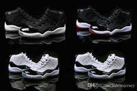 zapatos de baloncesto aaa al por mayor-Aair 6 JORDAN 1 11 niños Bred baloncesto zapatos 11s niño space jam jóvenes y niñas zapatillas de deporte XI Concord Blanco / negro niño zapatos para caminar