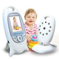 mode vidéo moniteur bébé achat en gros de-Surveillance vidéo sans fil pour bébé 2,0 pouces couleur caméra de sécurité 2 conversation Talk NightVision IR surveillance de la température LED avec 8 berceuses