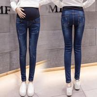 зимняя беременность оптовых-Джинсы для беременных для беременных беременных зимние теплые джинсы брюки Одежда для беременных для беременных кормящих брюк