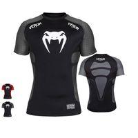 3d lycra großhandel-3D Print Gym MMA T-Shirts T-Shirt Thema Kleidung Fighting Club Muster Kurzarm Herren T-Shirt Herren T-Shirts Lycra T-Shirt