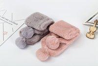 ingrosso sciarpe bambini carino-belle sciarpe delle neonate Pompom Inverno piccolo pupazzo di neve Sciarpa bambini collo caldo carino bambini outwear moda di alta qualità nuovi regali