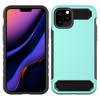 Wholesale carbon fibre cases for iphone for sale – best Armor phone case For LG K40 Iphone Samsung A10E A20 TPU PC Carbon Fibre Oppbag