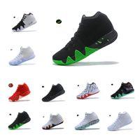 sapatos de basquete de estilo superior venda por atacado-NIKE Kyrie Irving Basketball Shoes 4 4s NBA All-Star Celtics Cleveland Cavaliers Uncle Drew Black Warrior Maple Leaf Joint Style Black and White NCAA