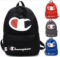 Wholesale gray backpacks for sale - Group buy Women men backpack unisex double bag fashion brand designer school backpack letter print solid color clear bag travel bag hot selling