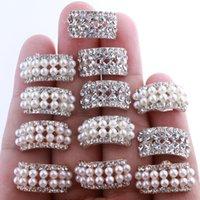 bogendekorationen großhandel-10 STÜCKE 10 * 20 MM Chic Arch Form Kristall Strass Tasten Für Hochzeit Verschönerung Runde Perle Taste Dekoration