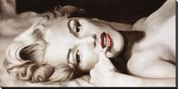Wholesale oil painting for wall decoration resale online - 100 Handmade Framed Marilyn Monroe Wall Décor Canvas Oil Painting Ready to Hang Wall Art for Living Room Bedroom Home Decorations