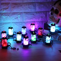 Wholesale halloween electronics resale online - Candle Light Desktop Ornament Creative LED Electronics Cup Give Out Light Lamp Halloween Decorate Prop Factory Direct Selling nh p1