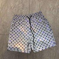 ropa de diseñador de plata al por mayor-Pantalones de cráneo para hombre diseñador de la marca de ropa de manga corta pantalones de hip hop Pantalones de lujo de alta calidad de la playa del punk Use Quick Dry Silver Tamaño asiático M-3XL 98