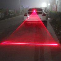 anti-kollisionslicht führte großhandel-Hintere Heck Laser Nebellampe Auto wieder montiert Projektionslampe Rücklicht LED Anti-Kollisions-Warn dekorativ