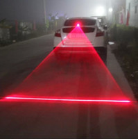 Wholesale anti collision light led resale online - Rear rear end laser fog lamp car LED refitted projection lamp rear light anti collision warning decorative