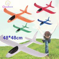 uçan kayıklar oyuncakları toptan satış-DIY Çocuk Oyuncakları Köpük Düzlem El Düzlemler Uçan Uçak Uçan Planör Düzlem Helikopter atın Model Uçak Oyuncak Çocuklar Açık Oyun İçin
