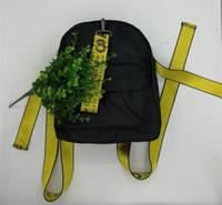 moda naylon çanta toptan satış-Kadın yeni büyük kapasiteli naylon moda omuz çantası moda mektup şerit kolej rüzgar çanta okul çantası