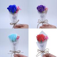 bouquet de fotos venda por atacado-Criativo Flor Artificial Adereços Foto Delicada Mini Bouquet Decoração Dia Dos Namorados Soap Flores Para A Namorada 2 6xf Ww