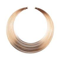 Wholesale jewelry lbs resale online - Women Earrings African Art Style Multiple Strands Choker Necklace Earrings Ring Jewelry Set LB