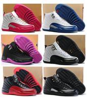ingrosso girls pink shoes-Scarpe da donna di alta qualità 12 12s GS Hyper Violet rosa palloncino da giorno di San Valentino Ragazze Le sneakers di taxi master