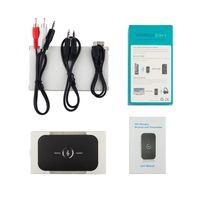 usb drahtloser videoadapter großhandel-Bluetooth Audio Adapter Wireless Bluetooth 4.1 Sender und Empfänger 2-in-1 3.5mm Car Kit für TV / Home Stereo System Großhandel