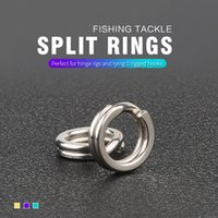 Wholesale lure blanks resale online - Stainless Steel Fishing Split Rings Lure Solid Ring Loop For Blank Crank Bait Tool Kit Metal Key Holder Split Rings