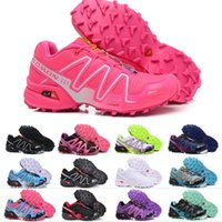 Wholesale soccer shoes top quality resale online - 2019 New Salomon Speed Cross CS III Women Running Shoes Top Quality Black Red Orange Blue Outdoor Jogging Sports Athletic Shoe