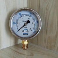 """controle de pressão do compressor venda por atacado-medidor de pressão PT1 / 4 """"rosca YN60 2.5"""" 60mm movimento de latão Concha de aço inoxidável Manómetro de vácuo preenchido com óleo à prova de choque"""