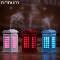 Wholesale lighthouse lighting for sale - Group buy Lighthouse Mini USB Humidifier Fogger Ultrasonic Car Home Office Essential Oil Diffuser LED Light Air Purifier Humidifiers
