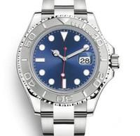 точечные наручные часы оптовых-Бесплатная доставка Сапфир 126622 40 мм механизм с автоподзаводом мужские часы Наручные часы синий циферблат светящийся серебряный тон руки и точка часовые метки