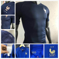 Wholesale long sleeve team soccer jersey for sale - Group buy Player version French Maillot team Special Edition Centenary Football Sweatshirt GRIEZMANN MBAPPE POGBA Long sleeve Soccer Jersey