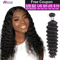 Wholesale hair waves online for sale - Brazilian Deep Wave Virgin Hair Brazilian Hair Bundles Curly Factory Selling A Cheap Peruvian Hair Weave Online